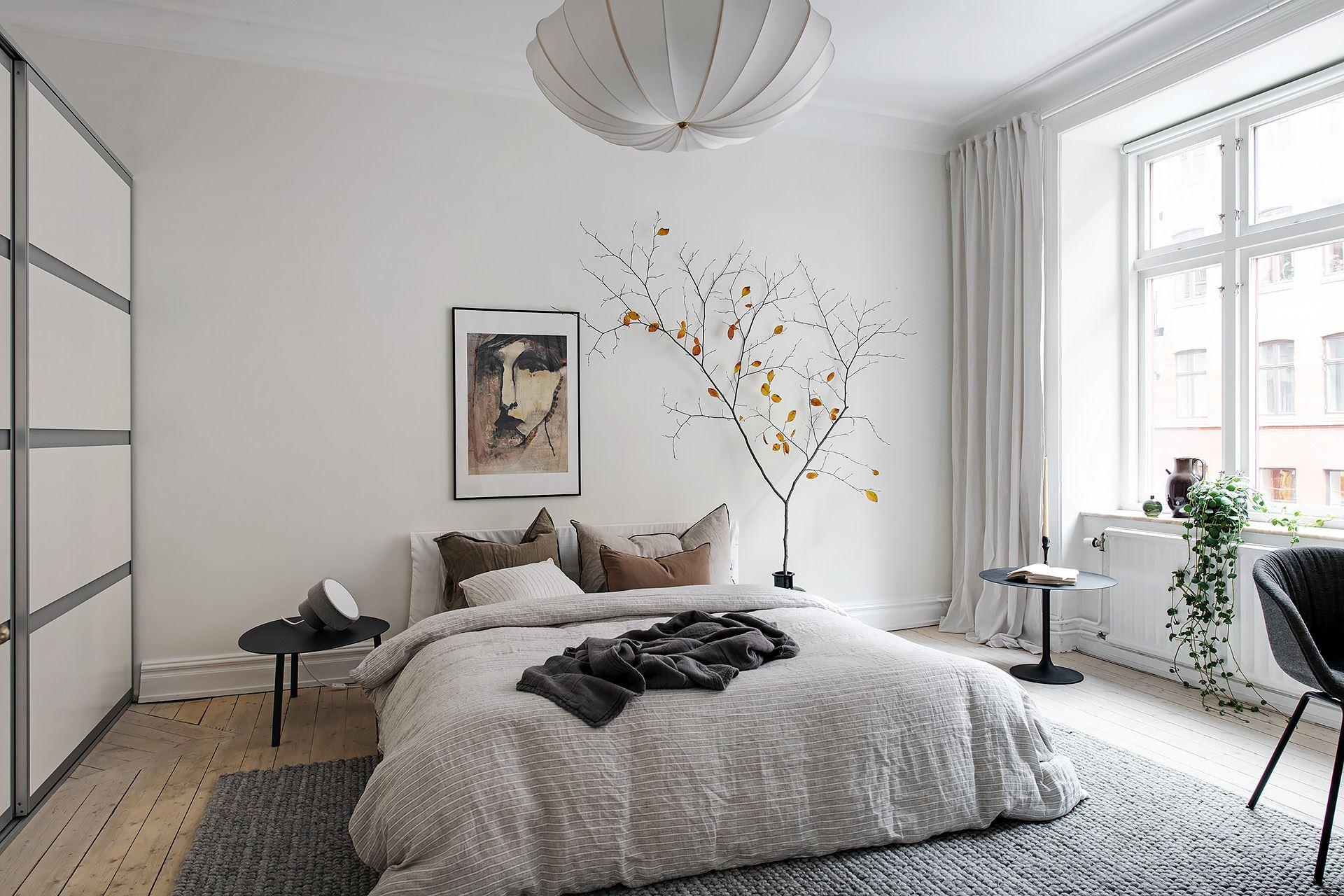 scandinavian feeling bedroom cozy hygge autumnal 3
