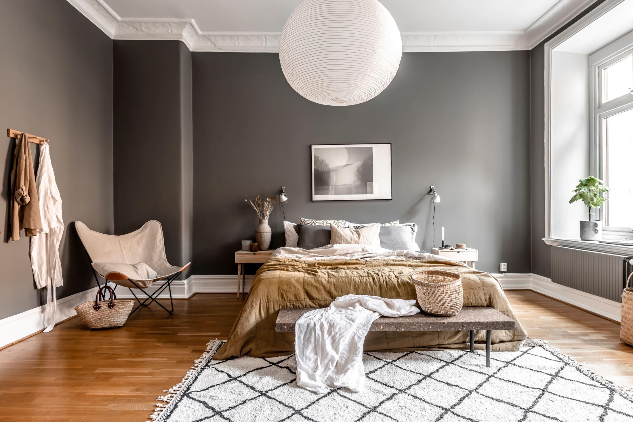 scandinavian feeling cozy bedroom hygge dark 2
