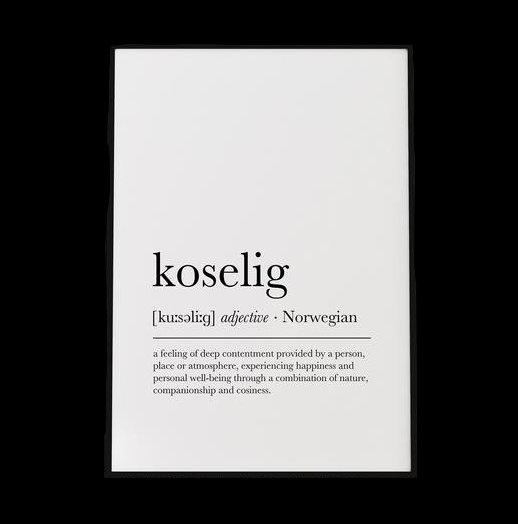 that scandinavian feeling shop koselig print etsy