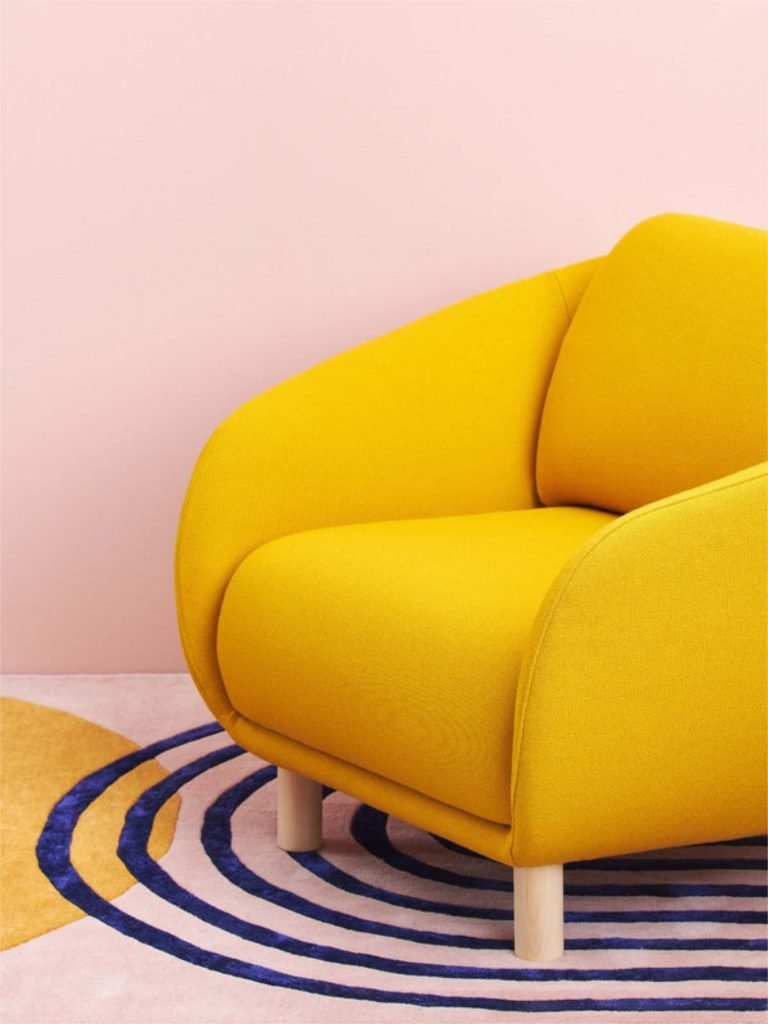 scandinavian feeling interior trend colourful rug