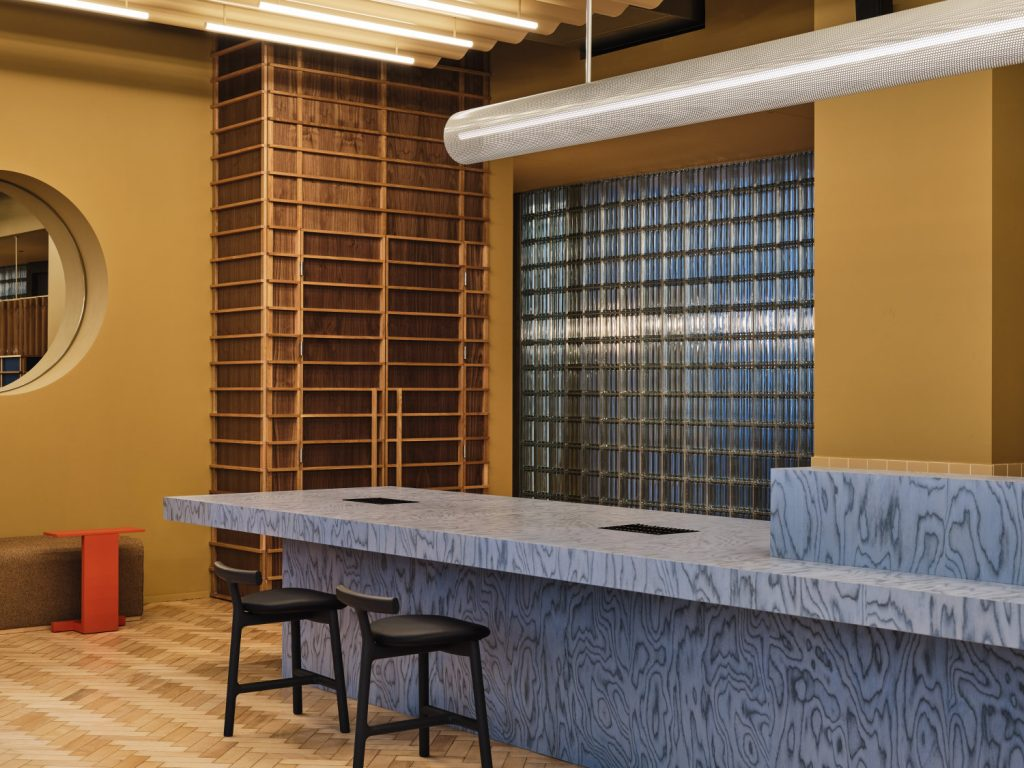 scandinavian feeling note design studio office colourful interior 14