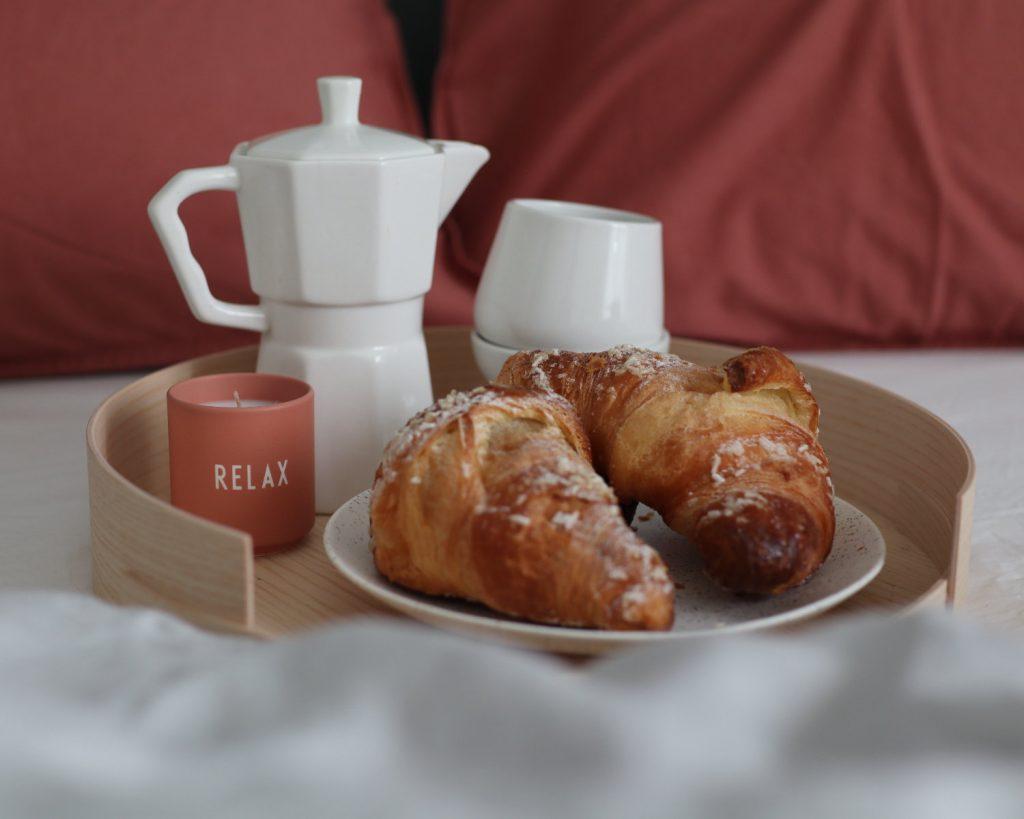 scandinavian feeling valentines breakfast bed relax