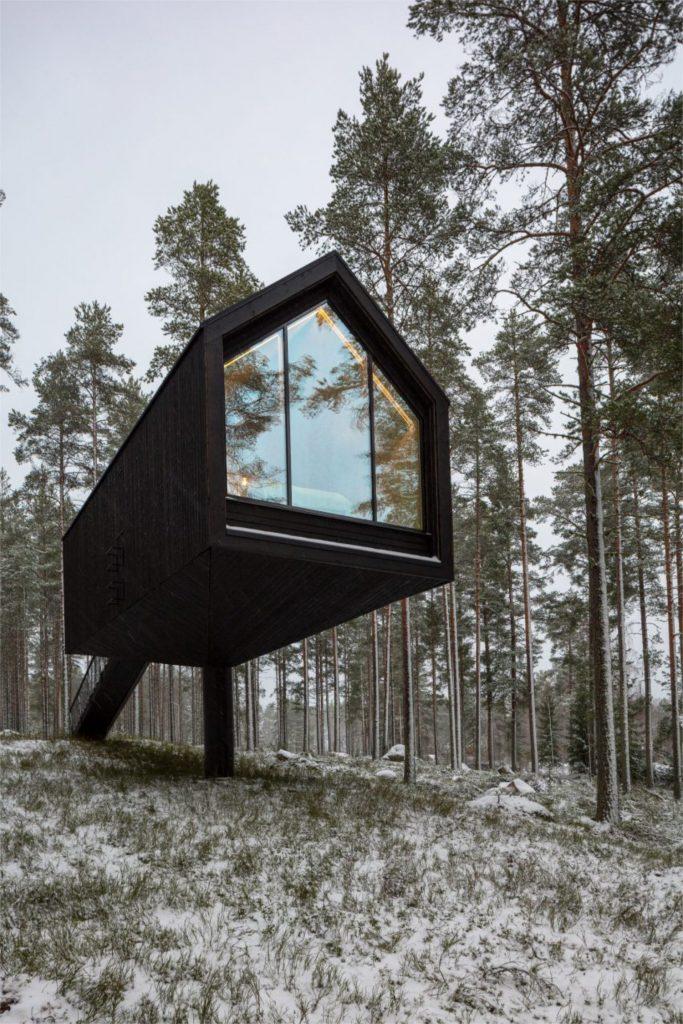 that scandinavian feeling cozy cabin finland exterior