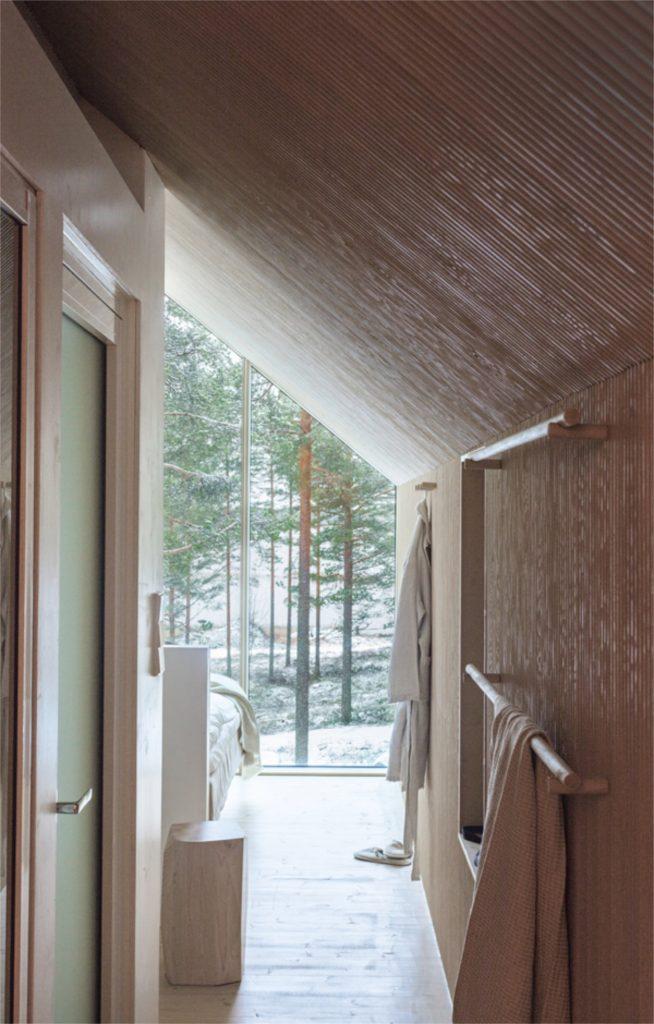 that scandinavian feeling cozy cabin finland interior view
