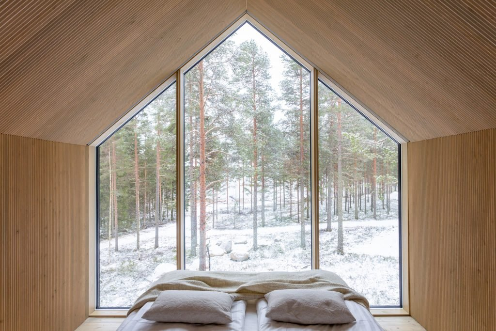 that scandinavian feeling cozy cabin finland interior windows