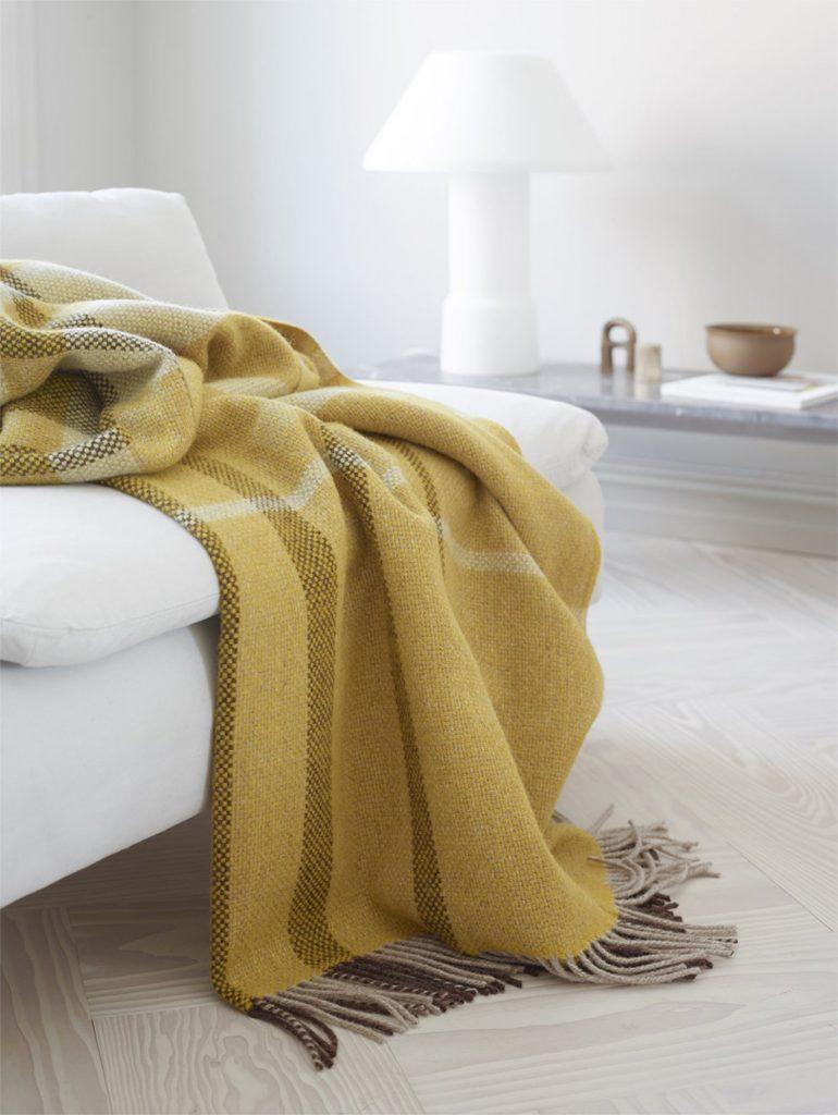 scandinavian feeling easter decor home blanket yellow