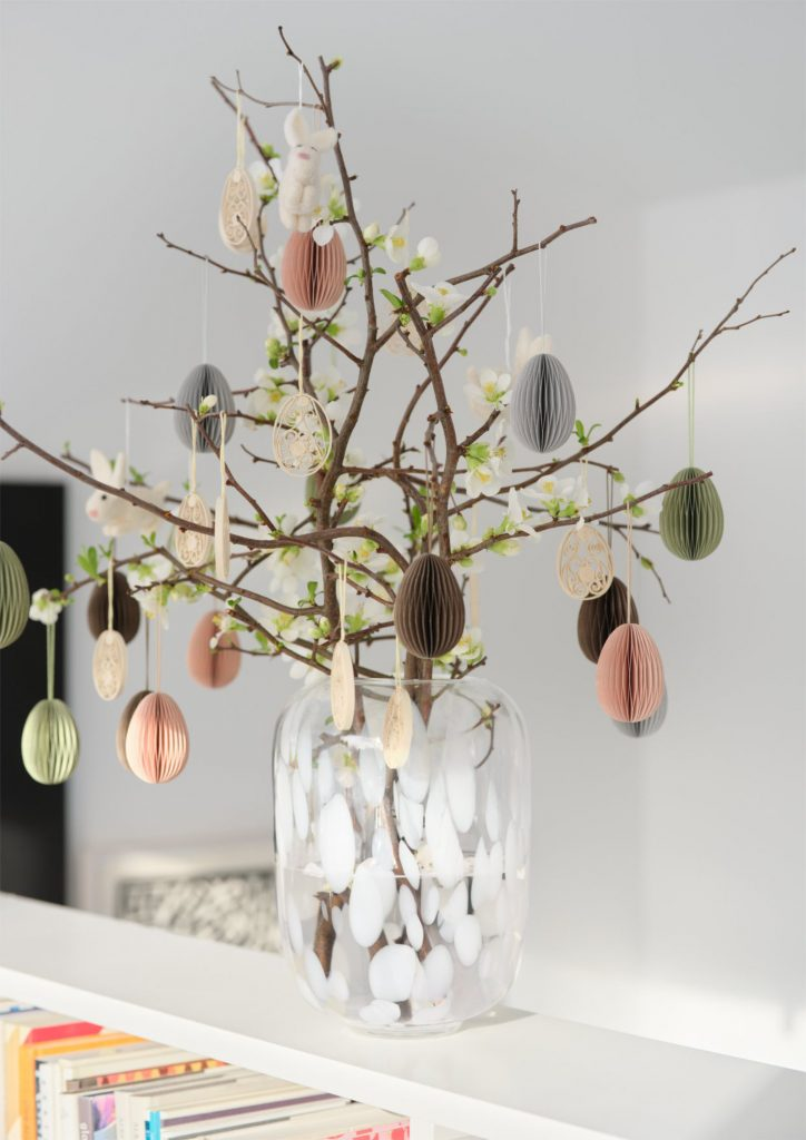 scandinavian feeling easter decor home egg ornaments