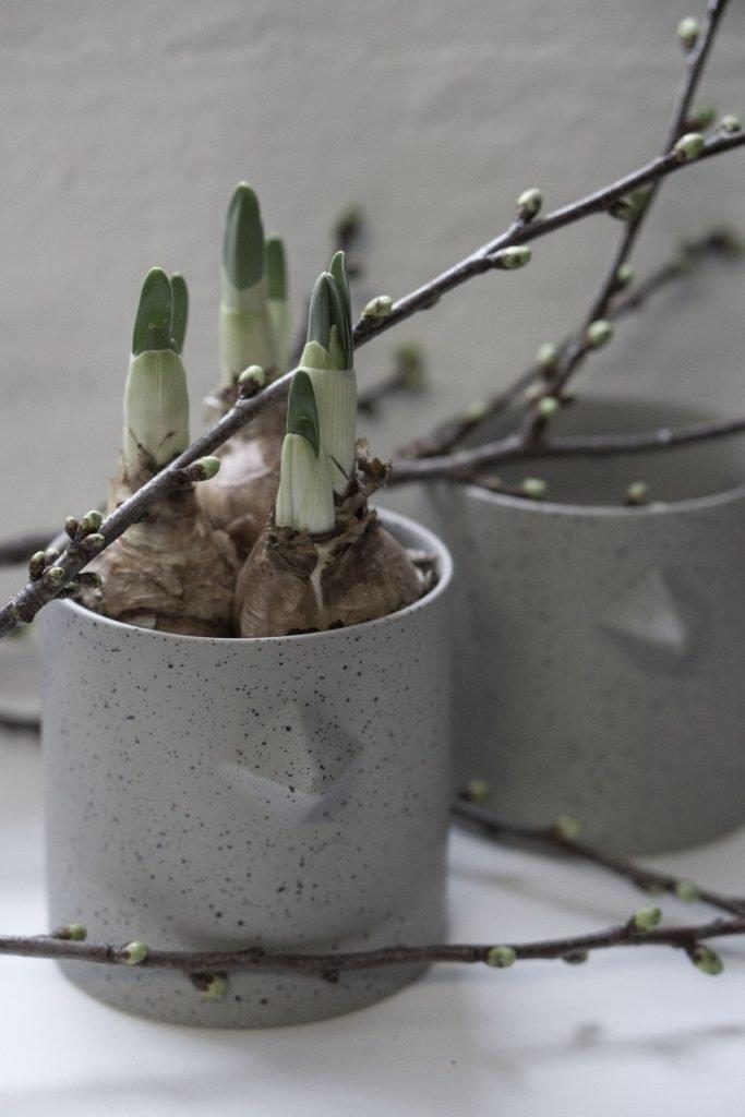 scandinavian feeling easter decor home flower pot