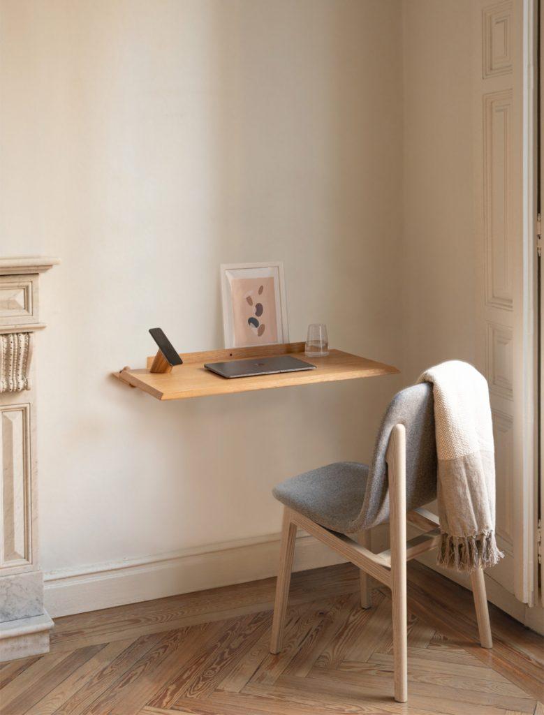 scandinavian feeling minimal desk design Alada Woodendot 1