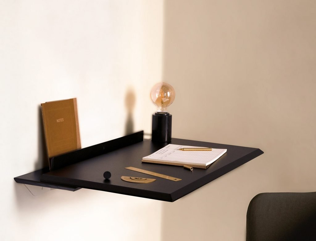 scandinavian feeling minimal desk design Alada Woodendot 3