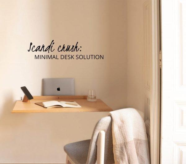 scandinavian feeling minimal desk design Alada Woodendot