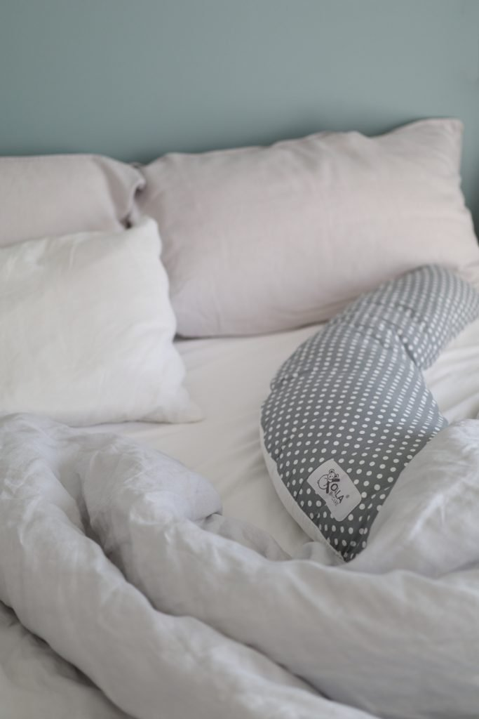 scandinavian feeling pregnancy essentials pillow closeup