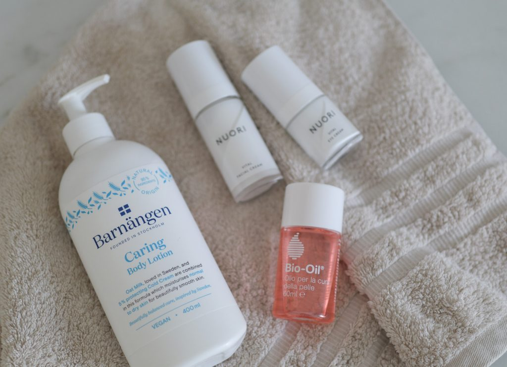 scandinavian feeling pregnancy essentials skincare