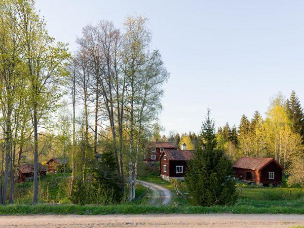scandinavian feeling idyllic swedish cottage outside 4