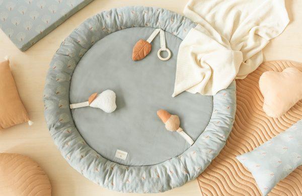 scandinavian feeling nursery decor floor mat