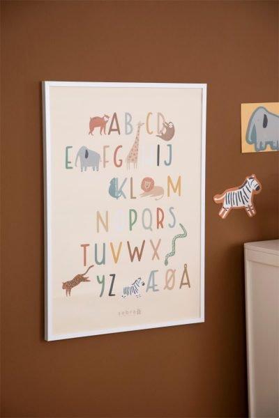 scandinavian feeling nursery decor kids animal poster wall