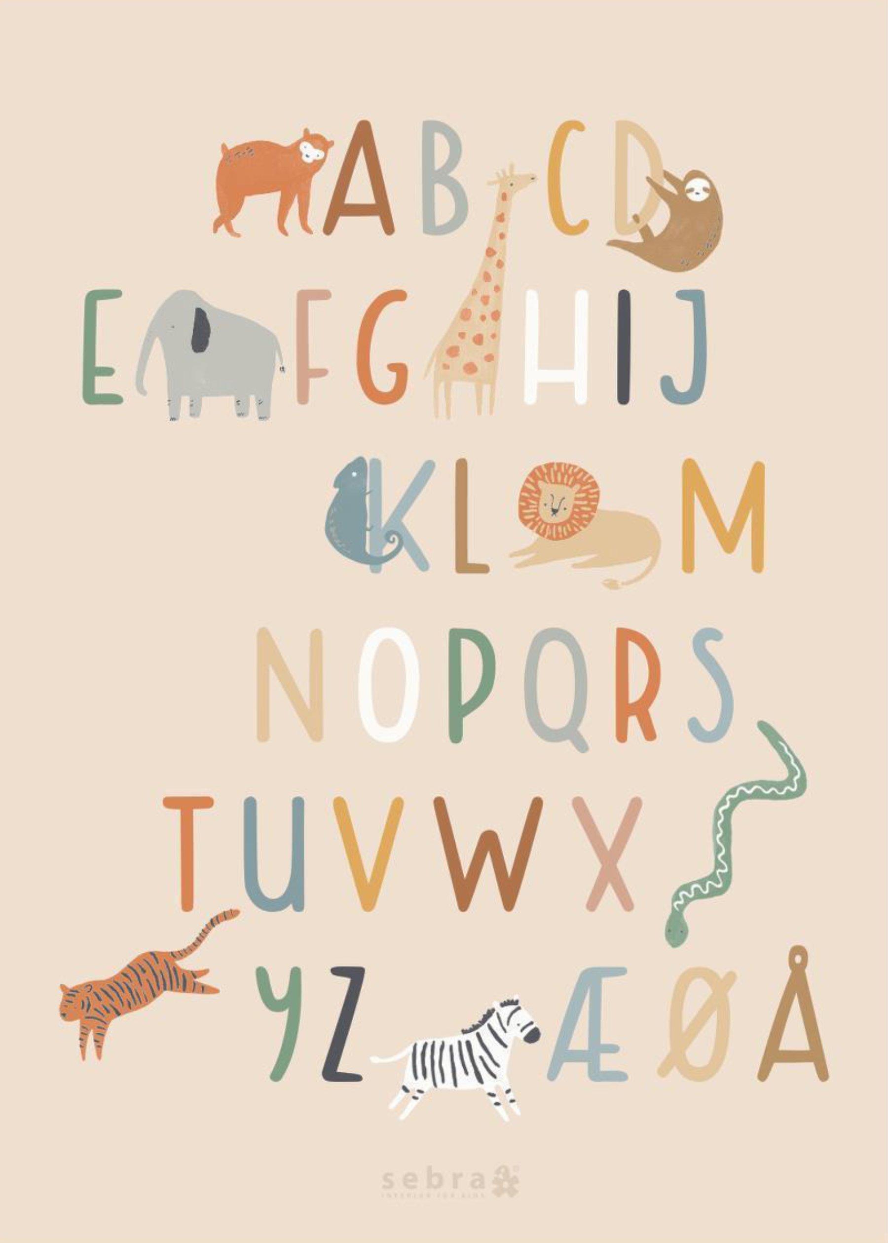 scandinavian feeling nursery decor kids animal poster