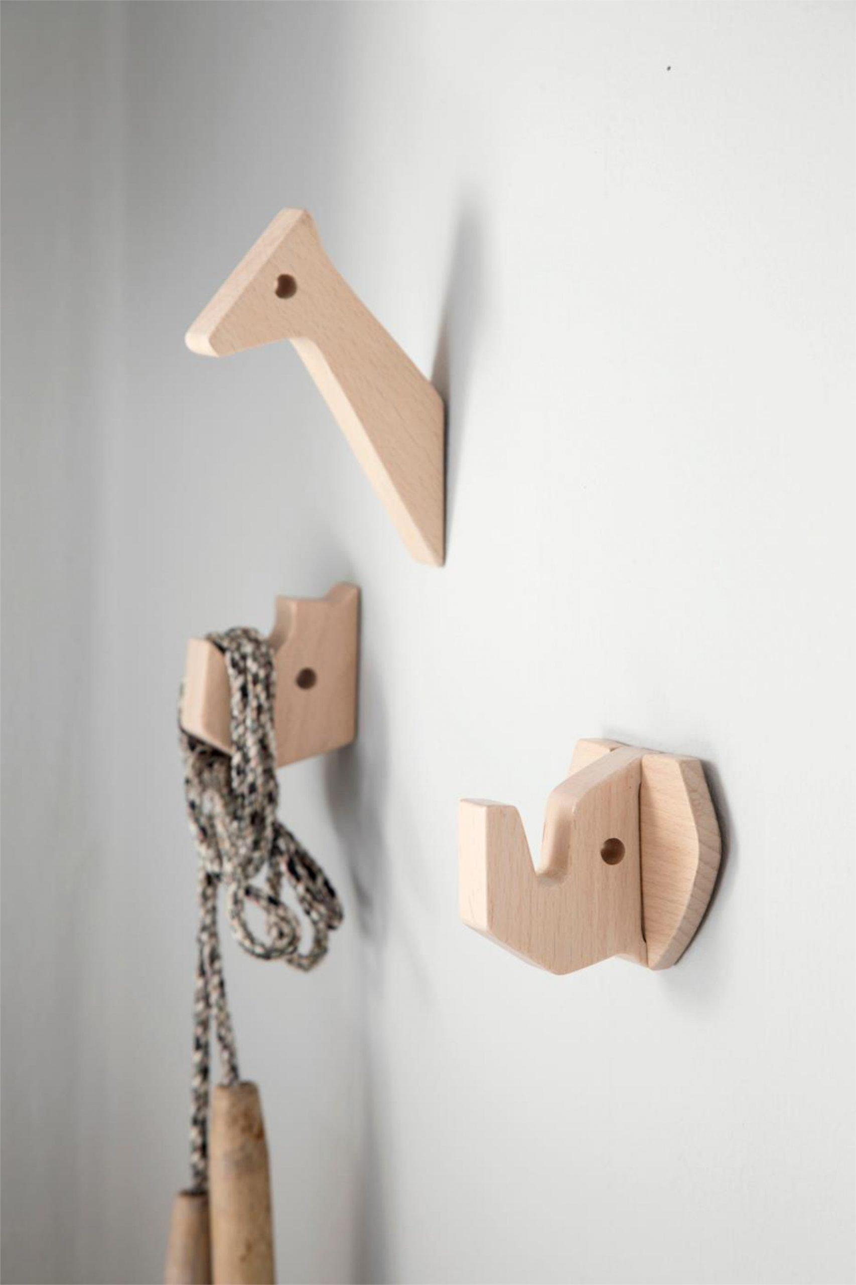 scandinavian feeling nursery decor kids animal wall hooks scaled