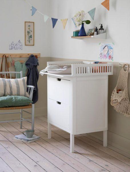 scandinavian feeling nursery decor kids changing mat
