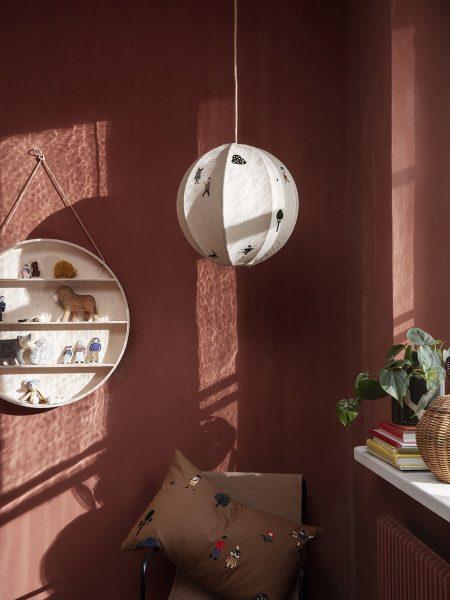 scandinavian feeling nursery decor kids round wall shelf