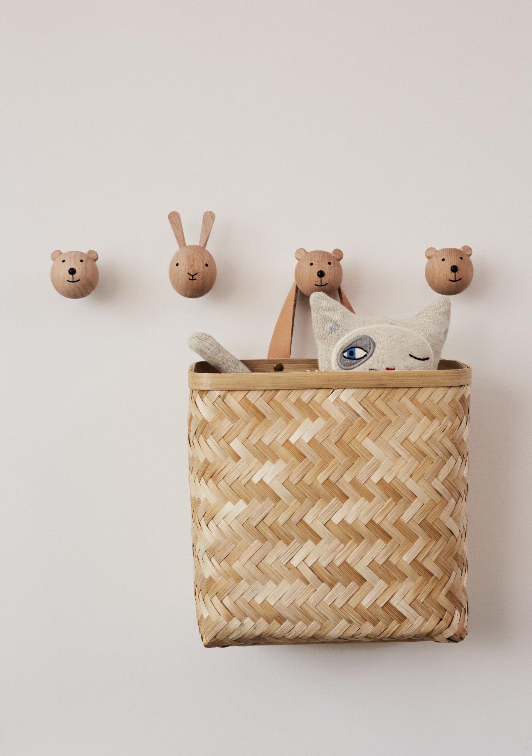 scandinavian feeling nursery decor kids wall hooks animals