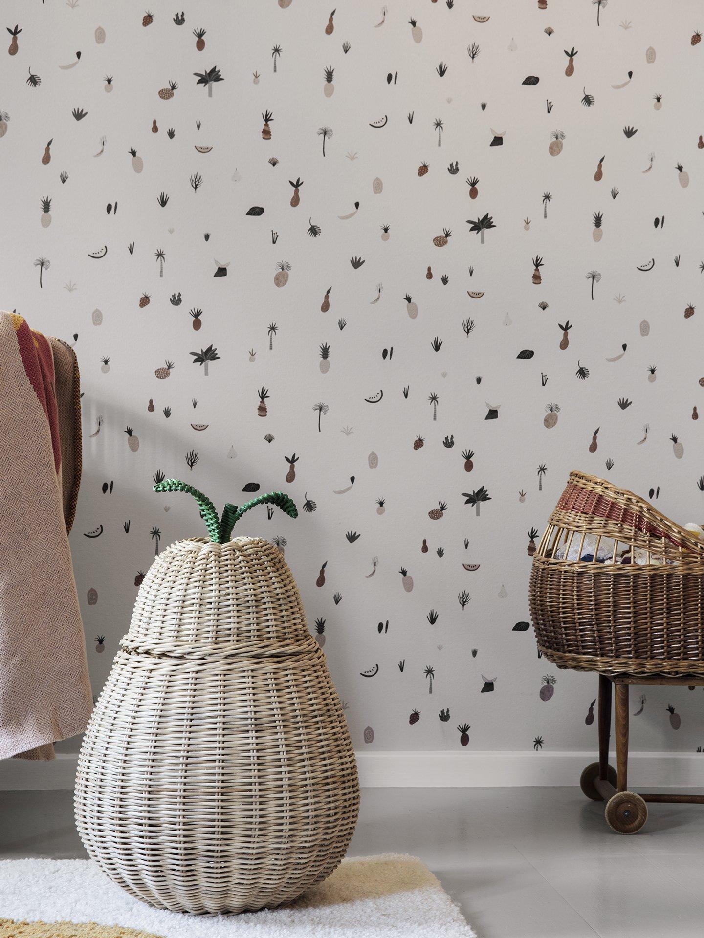 scandinavian feeling nursery decor kids wallpaper