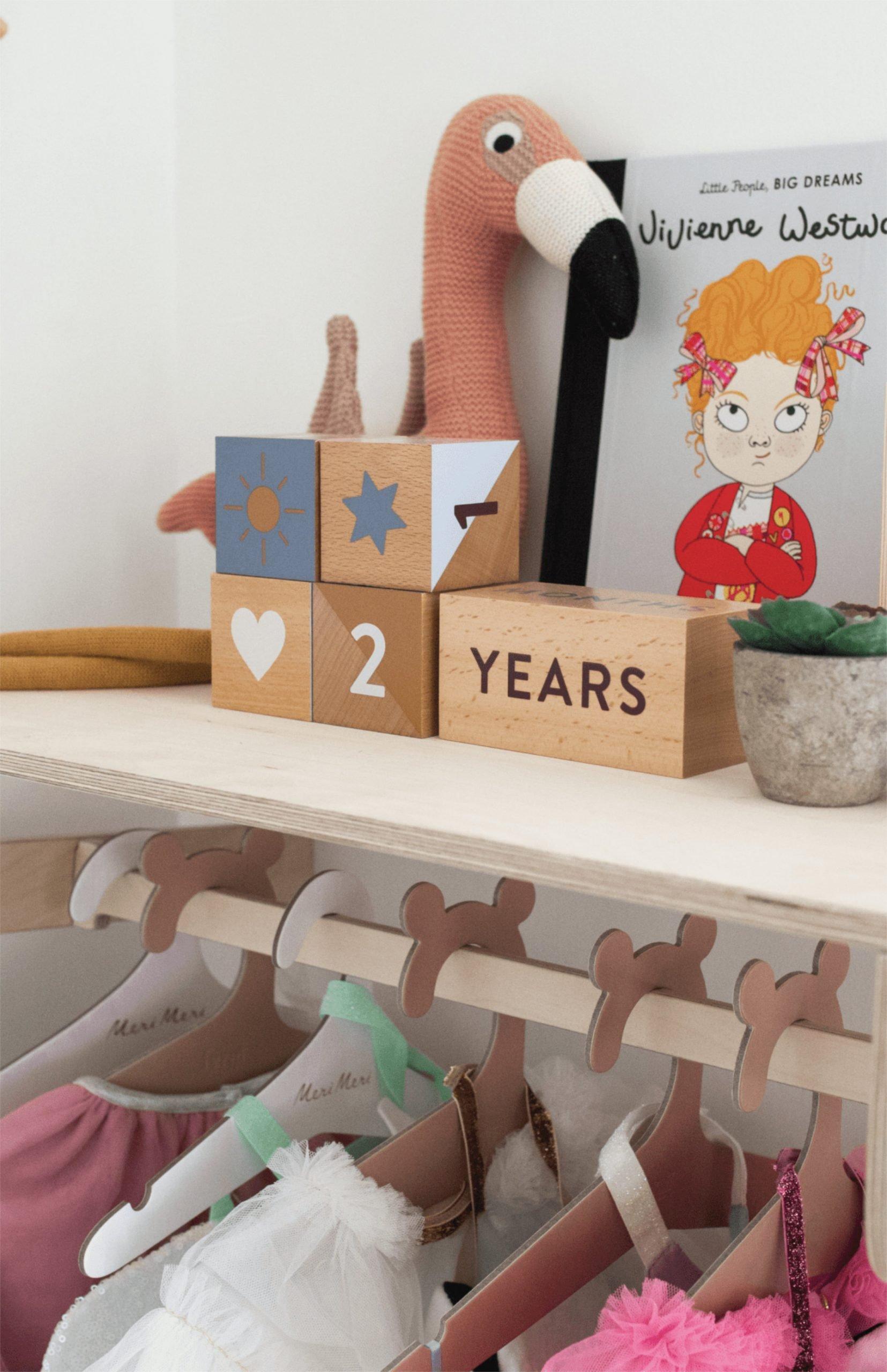 scandinavian feeling nursery decor kids wooden blocks scaled