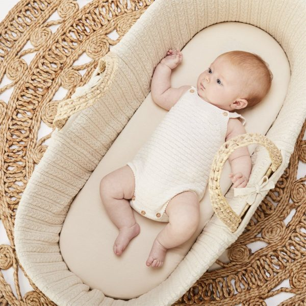 scandinavian feeling nursery decor moses basket baby