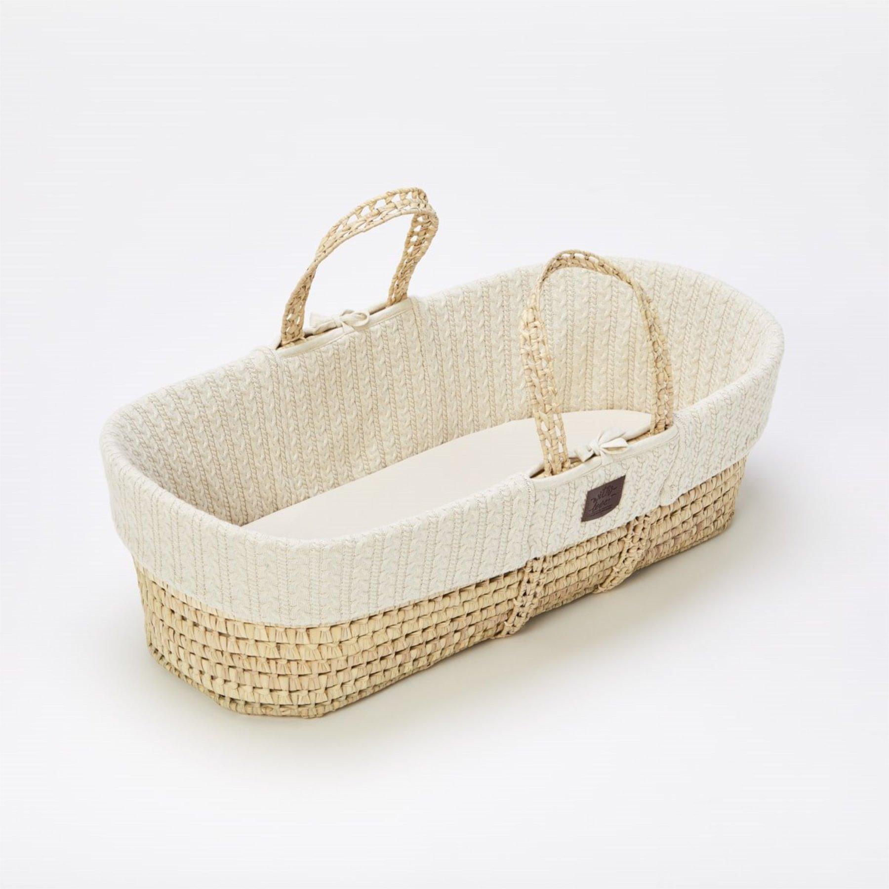 scandinavian feeling nursery decor moses basket